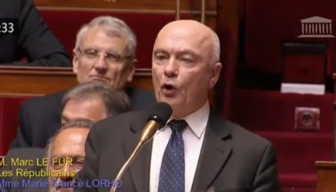 Marc Le Fur interroge le Premier Ministre sur l'abandon du projet d'aéroport de Notre-Dame des Landes.